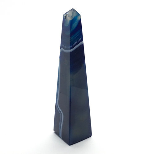 Crystal Agate Obelisk -  Blue 86g - 113 mm