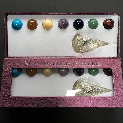 Chakra Sphere Cone Pendulum Set