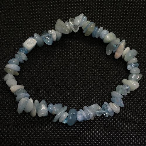 Aquamarine Crystal Chip Bracelet