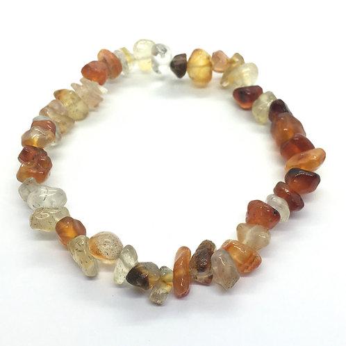 Carnelian Crystal Chip Bracelet