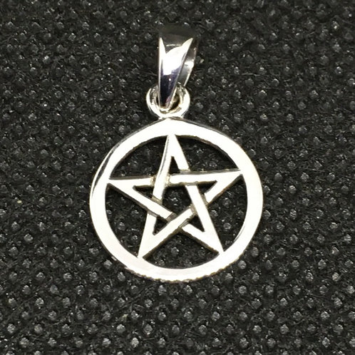 Small Pentacle Pendant - Sterling Silver
