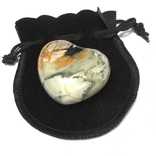 Jasper Picasso 45 mm  Heart with Free Pouch