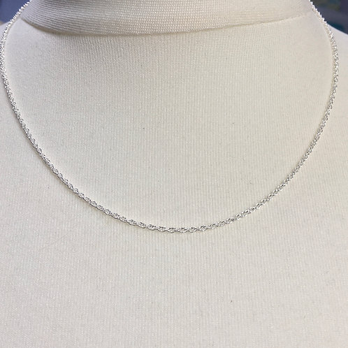 Sterling Silver Prince Of Wales Rope Chain (18 Inches)