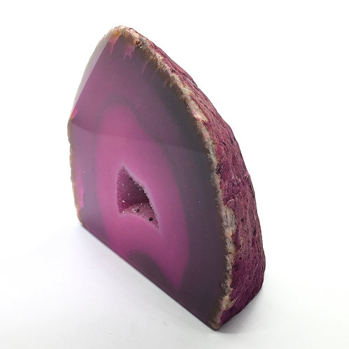 Pink Agate Geode 285g
