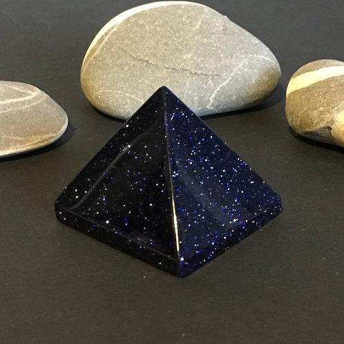 Blue Goldstone 40 mm Pyramids
