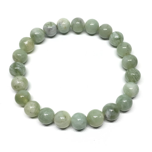 New Jade 8mm Beaded Elasticated Bracelet