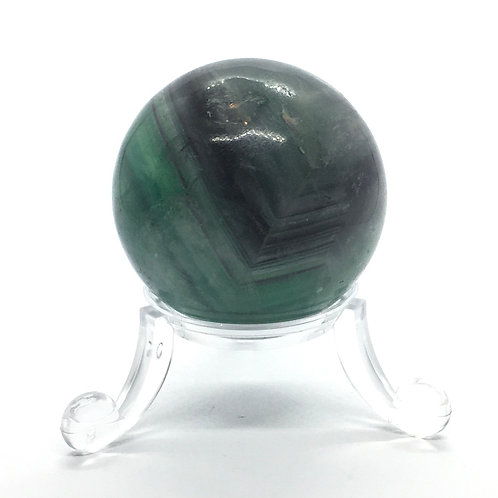 Fluorite - B -40 mm Crystal Sphere with Free Stand