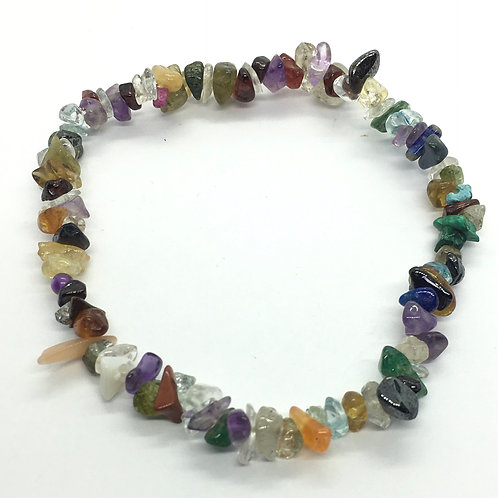 Mixed Crystal Chip Bracelets