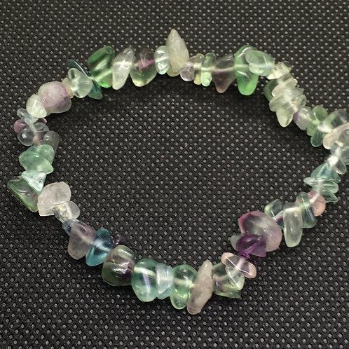 Fluorite Crystal Chip Bracelet