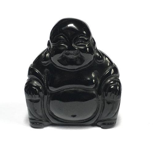 Black Obsidian Crystal Buddha