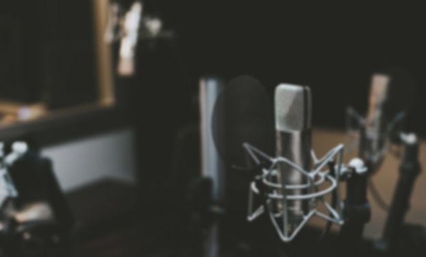 estudio de micrófono