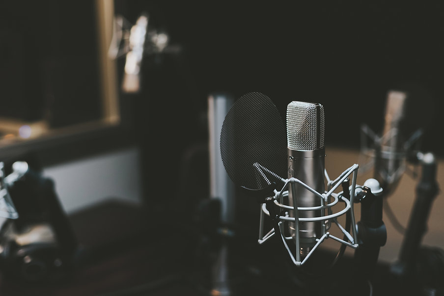 recording voice overs and producing audio
