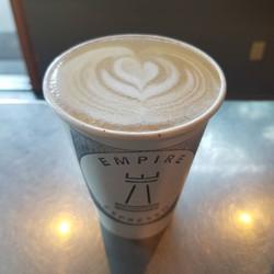 House-made cashew milk latte!  We make o