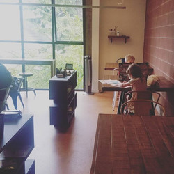 My kids enjoy our new upstairs space