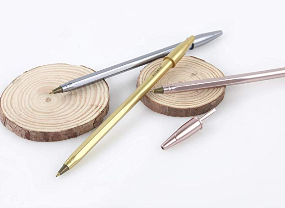 Metallic Ballpoint Pen (3 pcs)