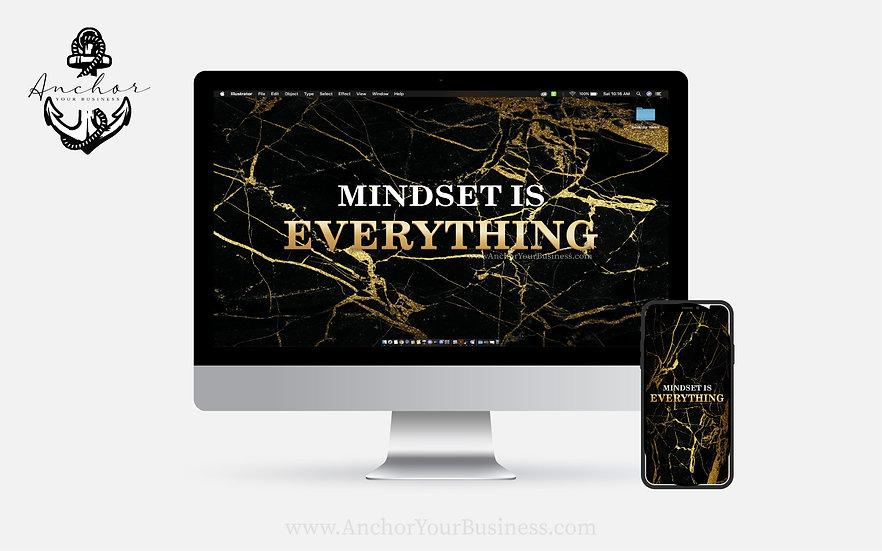Mindset is Everything Black and Gold (Desktop)