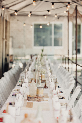 Reception Table at Comida