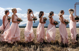 Bridesmaids in the Wind