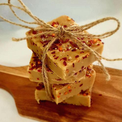 MEDIUM heat-Salted Caramel Chilli Fudge