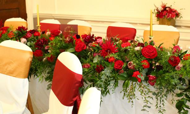 Luxury top table arrangement