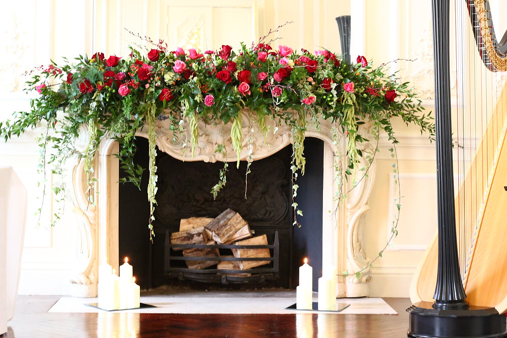 Luxury mantelpiece arrangement
