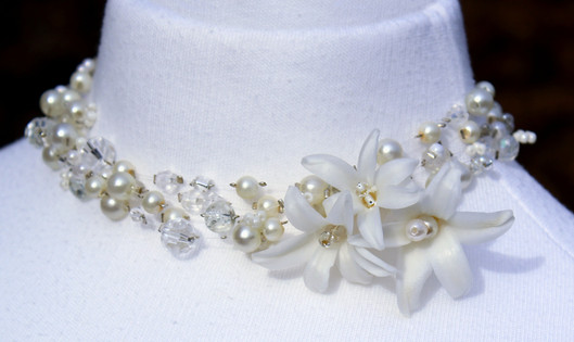 Bespoke floral necklace