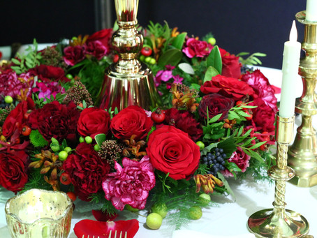 Luxurious Reds and Golds Feature at the National Wedding Show, London
