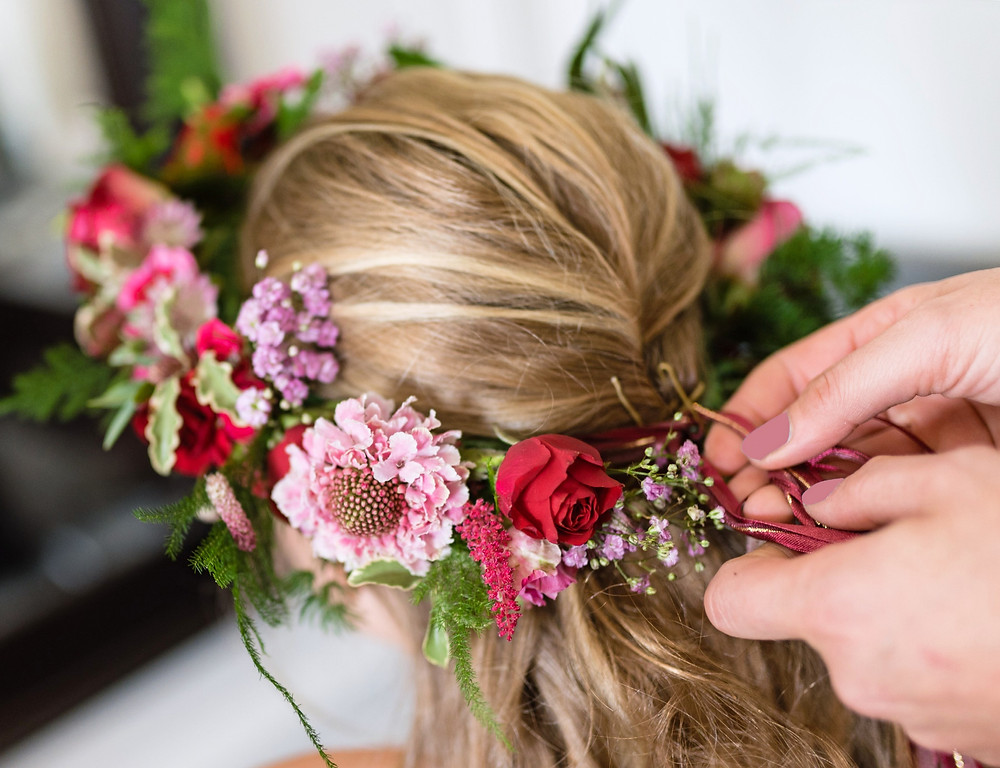flower crown for bride or bridesmaid