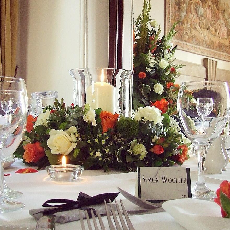 Orange rose centrepiece