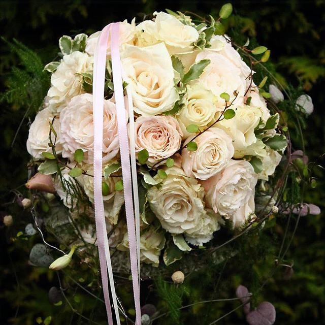 blush rose handtied bridal bouquet