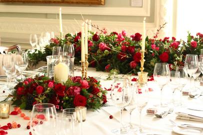 Candlelit wedding table