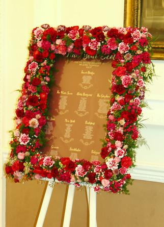 Luxury floral seating plan