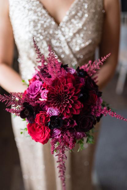 Rich toned bridal bouquet