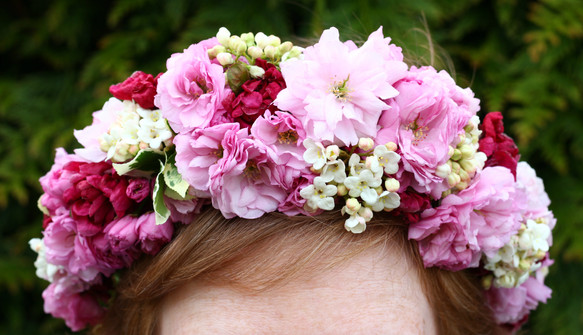 Cherry blossom floral crown
