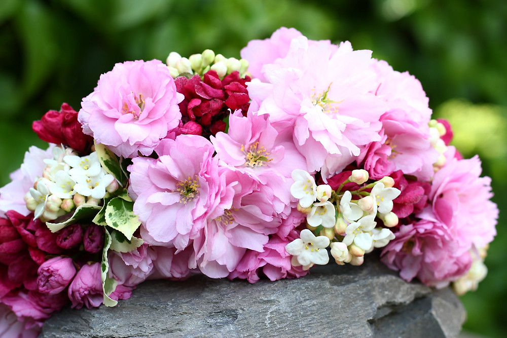 Soft pink floral crown