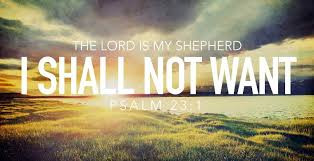 Psalm 23 - God comforts