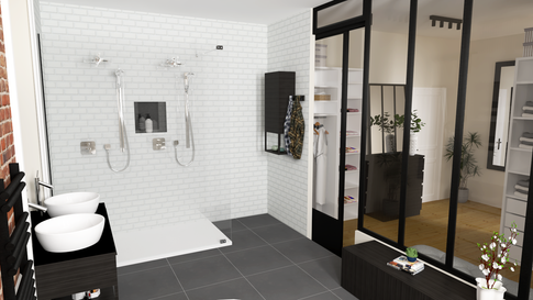 Espace salle de bains