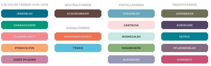 Folgende Farben scheiden aus: