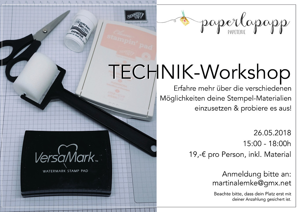 Stampin up Workshop in Essen