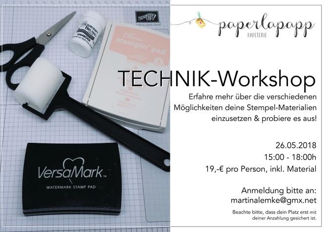 Neuer Workshop!