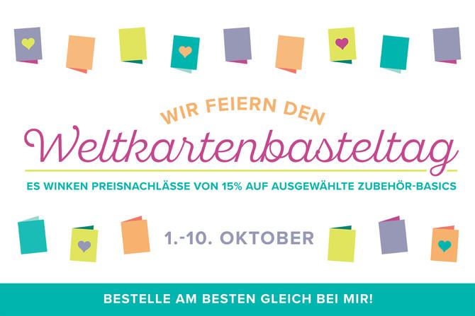 Wir feiern den WELTKARTENBASTELTAG + verschenken Designerpapier!