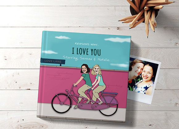 Hers & Hers | Personalised 'I love you' Book