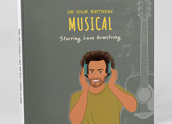 Personalised 'Music' (Cover only)  -  Add to any book purchase