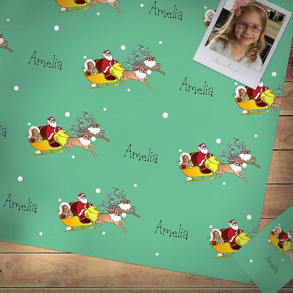 Festive gift wrap   Photo upload - Child