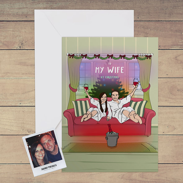 Personalised festive card   Wife