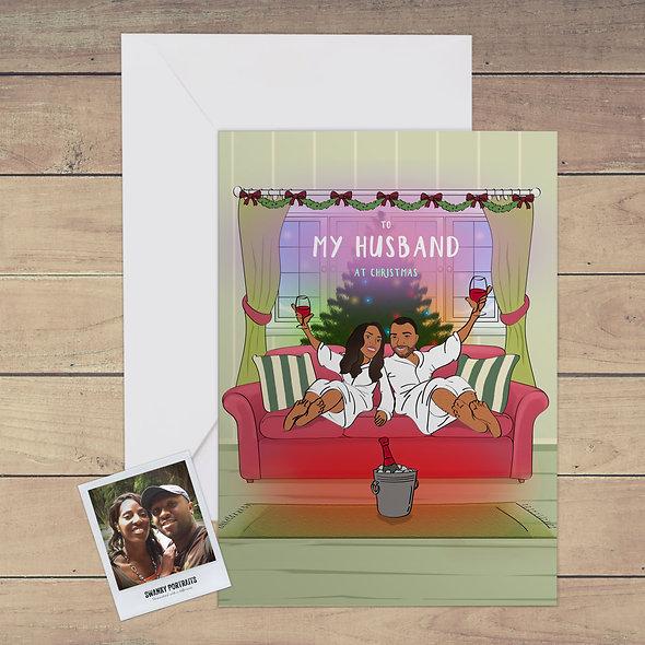 Personalised festive card | Husband