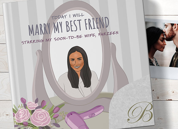 Personalised 'gift for my bride' Book