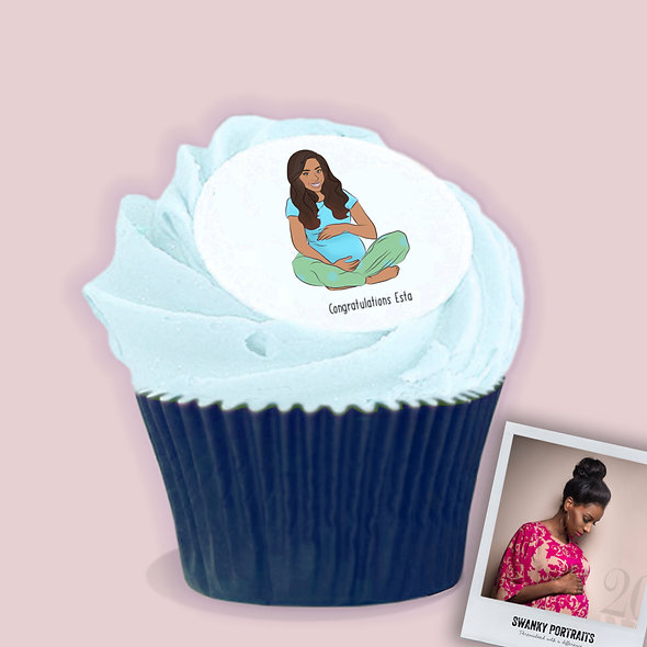Baby shower cake toppers| Blue