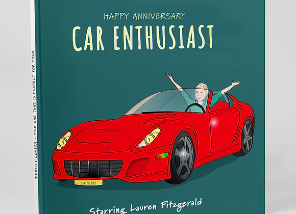 Personalised 'Car fan' (Cover only)  -  Add to any book purchase