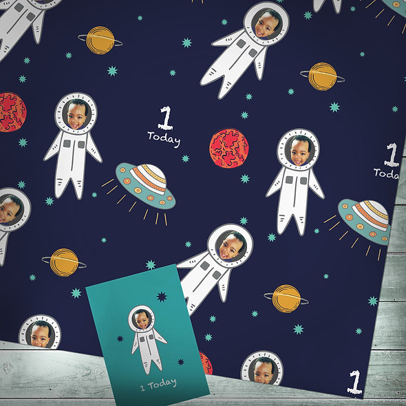 Personalised 'Space' gift wrap | Photo